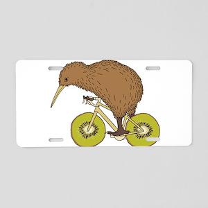Kiwi Riding Bike With Kiwi Aluminum License Plate