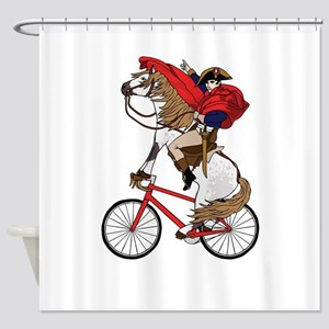 Napoleon Riding Horse Who's Riding Shower Curtain