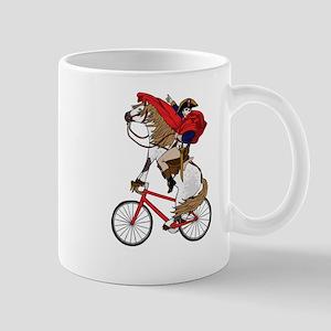 Napoleon Riding Horse Who's Riding A Bike Mugs