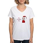 Ho Frickin' Ho Women's V-Neck T-Shirt