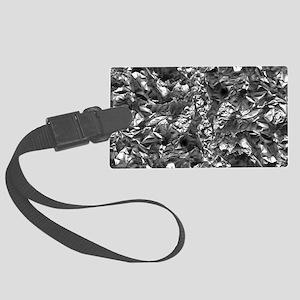 Aluminium Crush Large Luggage Tag