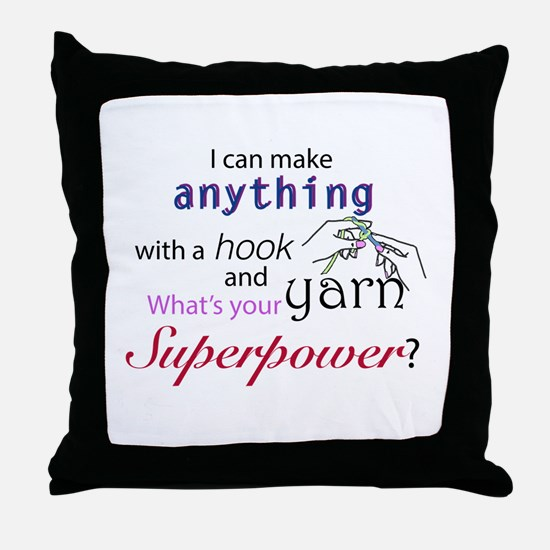 Super cocheter Throw Pillow