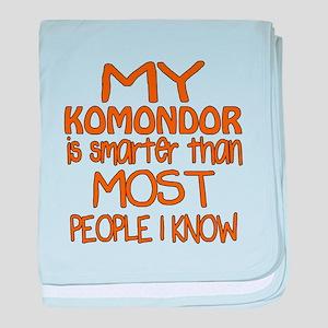 My Komondor is smarter baby blanket