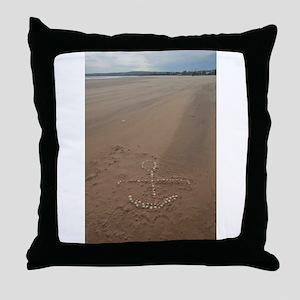 anchor in sandstorm Throw Pillow