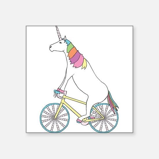 Unicorn Riding Bike With Unicorn Horn Spok Sticker