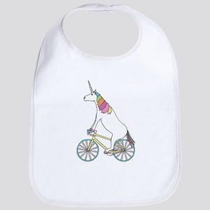 Unicorn Riding Bike With Unicorn Horn Spoked W Bib