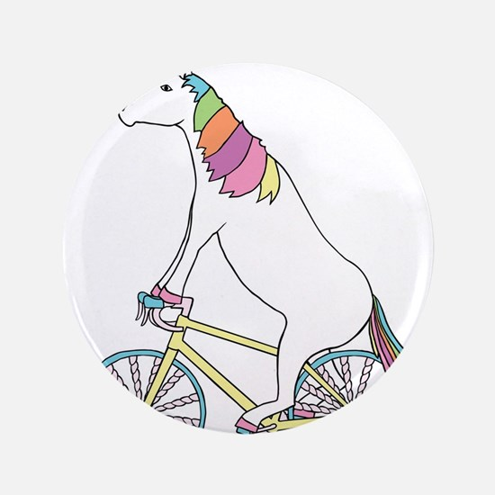 Unicorn Riding Bike With Unicorn Horn Spoke Button