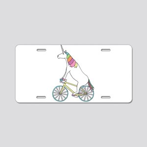 Unicorn Riding Bike With Un Aluminum License Plate