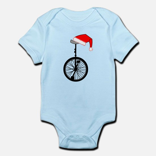 Unicycle Santa Hat Body Suit