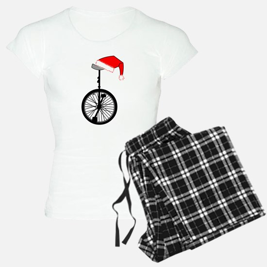 Unicycle Santa Hat Pajamas