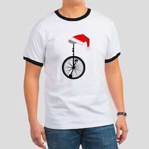 Unicycle Santa Hat T-Shirt