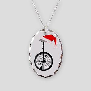 Unicycle Santa Hat Necklace