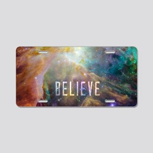 Believe - View of Orion Neb Aluminum License Plate