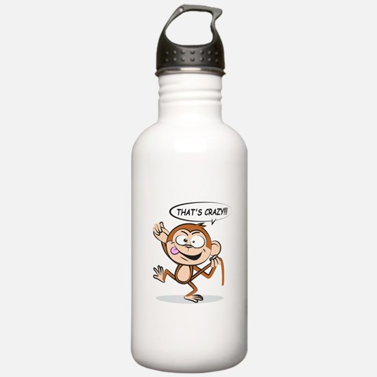 Monkey Says That's Cra Water Bottle