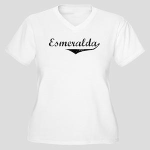 Esmeralda Vintage (Black) Women's Plus Size V-Neck