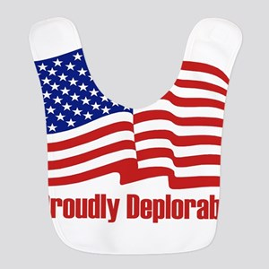 Proudly deplorable Polyester Baby Bib