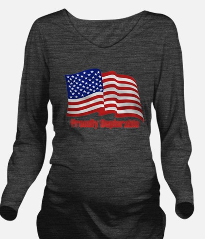 Proudly deplorable Long Sleeve Maternity T-Shirt