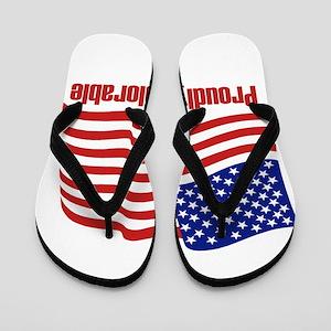 Proudly deplorable Flip Flops