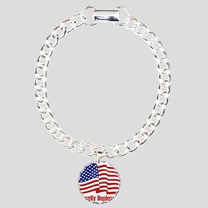 Proudly deplorable Charm Bracelet, One Charm