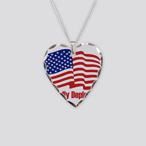 Proudly deplorable Necklace Heart Charm