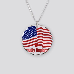 Proudly deplorable Necklace Circle Charm