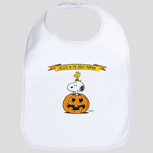 Peanuts Believe Great Pumpkin Bib