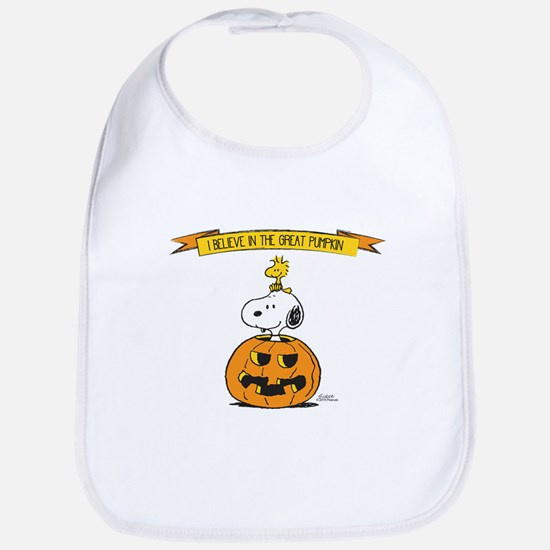 Peanuts Believe Great Pumpkin Bib
