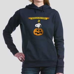 Peanuts Believe Great Pumpkin Women's Hooded Sweat