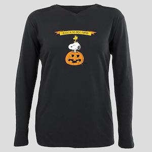 Peanuts Believe Great Pumpkin Plus Size Long Sleev