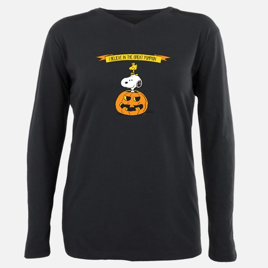 Peanuts Believe Great Pumpkin Plus Size Long Sleev
