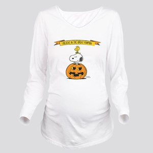 Peanuts Believe Great Pumpkin Long Sleeve Maternit