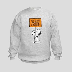 The Great Pumpkin Is Coming Kids Sweatshirt