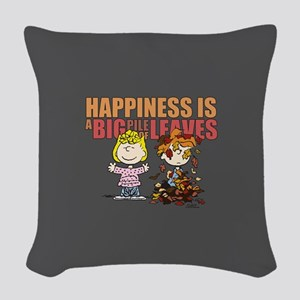 Peanuts Fall Leaves Woven Throw Pillow
