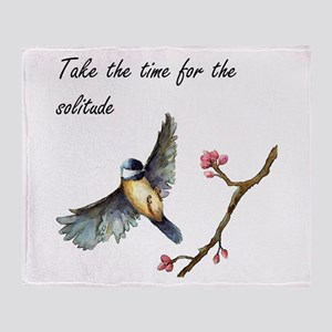 Take Time For the Solitude Throw Blanket