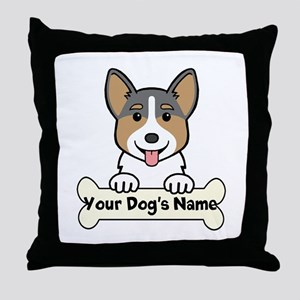 Personalized Corgi Throw Pillow