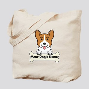 Personalized Corgi Tote Bag