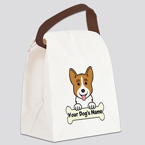 Personalized Corgi Canvas Lunch Bag