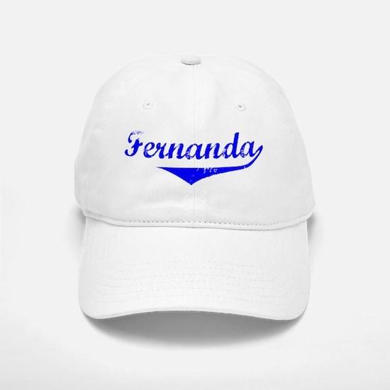 Fernanda Vintage (Blue) Baseball Baseball Cap