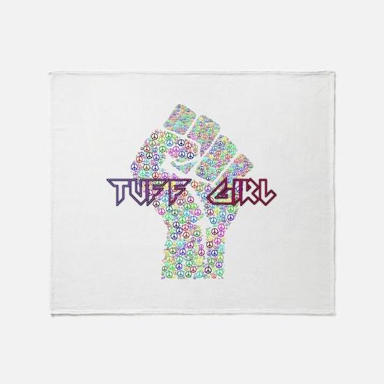 Tuff Girl Throw Blanket