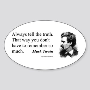 Twain Sticker (Oval)