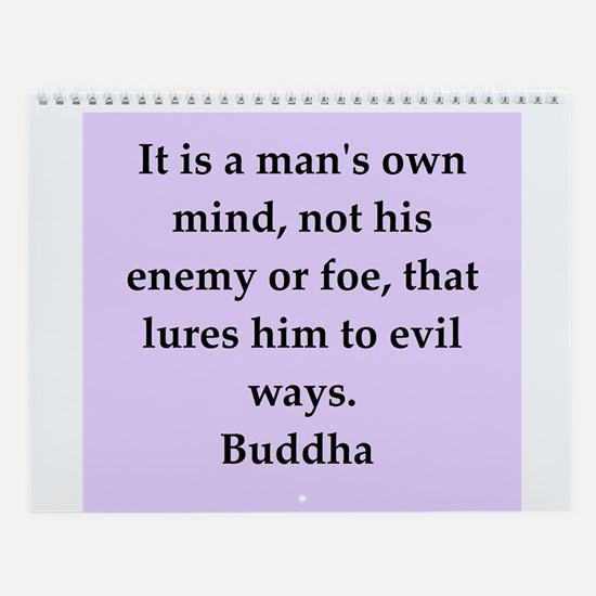 Buddha Quotes Wall Calendar
