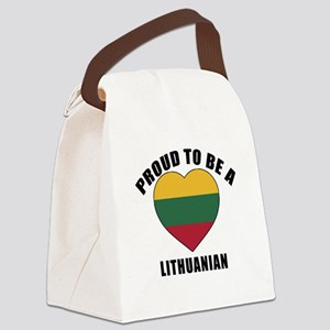 Lithuanian Patriotic Designs Canvas Lunch Bag