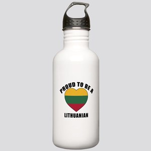 Lithuanian Patriotic D Stainless Water Bottle 1.0L