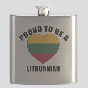 Lithuanian Patriotic Designs Flask