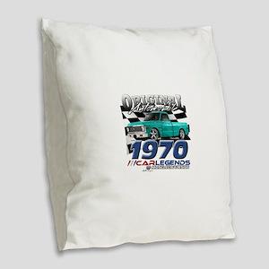 1970 Pickup Burlap Throw Pillow