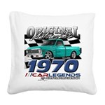 1970 Pickup Square Canvas Pillow