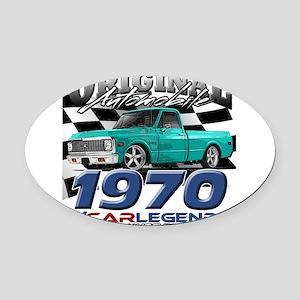 1970 Pickup Oval Car Magnet