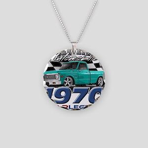 1970 Pickup Necklace Circle Charm