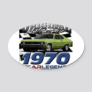 1970 Nova Oval Car Magnet
