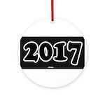 2017 License Plate Round Ornament